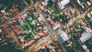 Birdseye view of suburbia - The growth of an urban living philosophy within suburban reaches