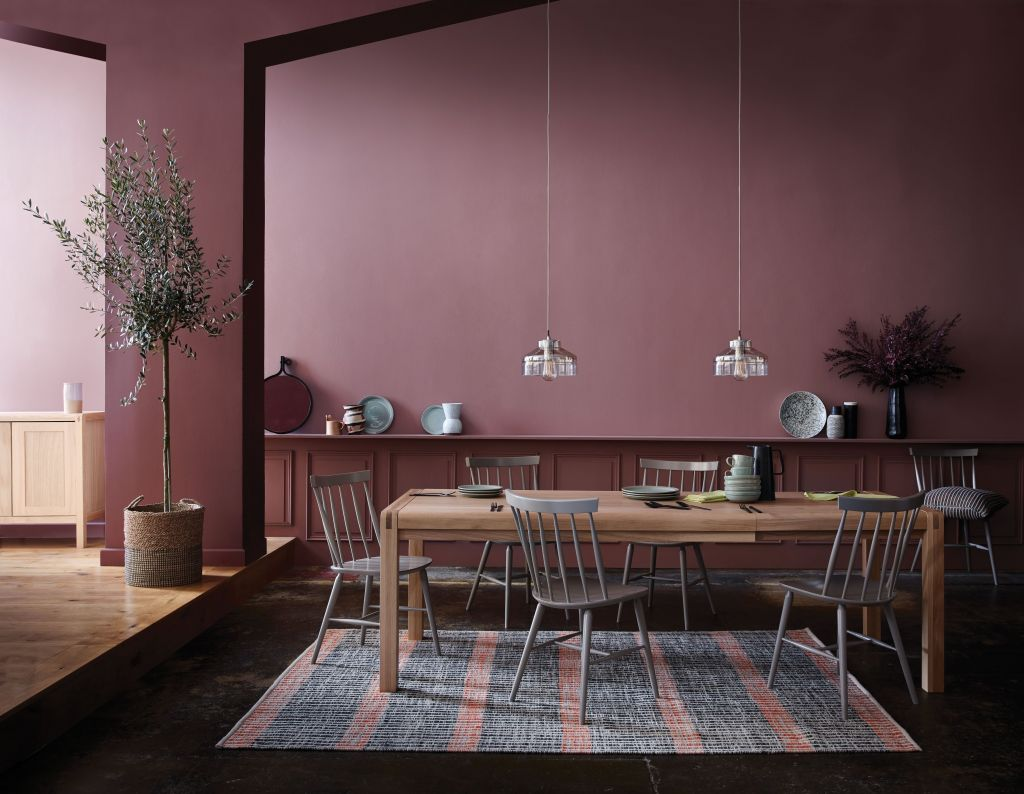 Dusty pink - Accentuate your home décor this season with eclectic interior choice