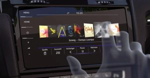 VW gesture controlled screen