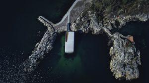 Under, Norway - aerial view