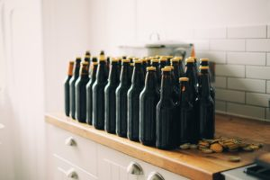 Bottles of craft beer